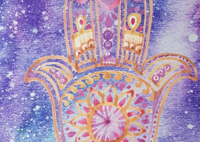 hamsa yoga mat close up (2)
